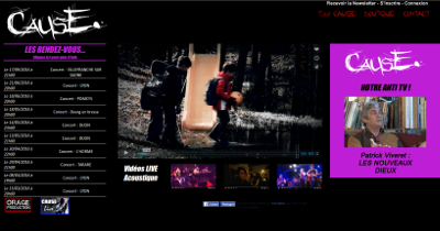 Homepage du groupe CAUSE.